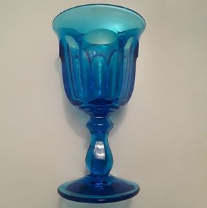 Other - *Gorgeous Vintage Blue Glass Goblet Glass*